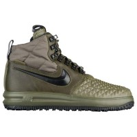 (取寄)Nike ナイキ メンズ ルナ フォース 1 ダックブーツ Nike Men's Lunar Force 1 Duckboots Medium Olive Black Wolf Grey