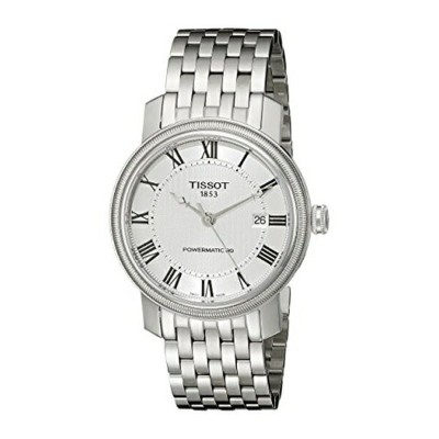 ティソ Tissot 腕時計 メンズ 時計 Tissot Men's T0974071103300 Bridgeport Analog Display Swiss Automatic Silver...