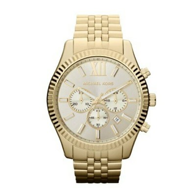 マイケルコース Michael Kors メンズ 腕時計 時計 Mickael Kors MK8281 Analog Lexington Gold-Tone Stainless Steel Watch