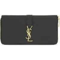イヴ サンローラン saint laurent レディース 財布・時計・雑貨 財布【monogram leather zip-around wallet】Black gold hardware
