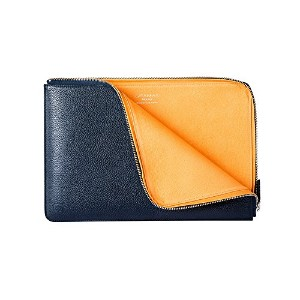 GRAMAS Meister Leather Sleeve for MacBook Air (MacBook Air 11inch, Navy)