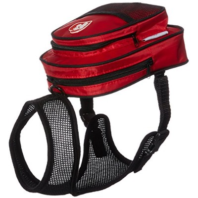 SarahTom 7-Inch Pet Backpack for Dogs, Red by SarahTom