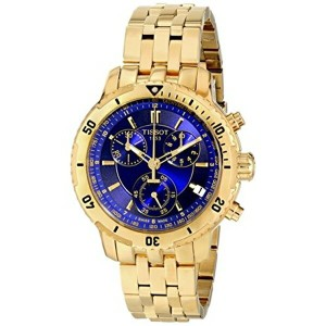 ティソ Tissot 腕時計 メンズ 時計 Tissot PRS-200 Men's Blue Chronograph Dial Yellow Gold Watch T067.417.33.041...