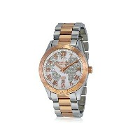 マイケルコース Michael Kors レディース 腕時計 時計 Michael Kors MK6129 Two-Tone Ladies Watch - White Crystel Dial