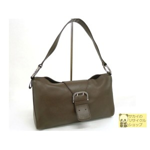 TODS トッズ ショルダーバッグ ブラウン レザー【コンビニ受取対象】【中古】