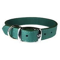 OmniPet 6266-JD14 Luxe Leather Dog Collar, Jade by OmniPet