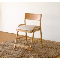ISSEIKI 学習チェア ダイニング 子供 椅子 キッズ イス チェア 木製 アルダー 無垢 (ナチュラル) FIORE DESK CHAIR (NA/WH)
