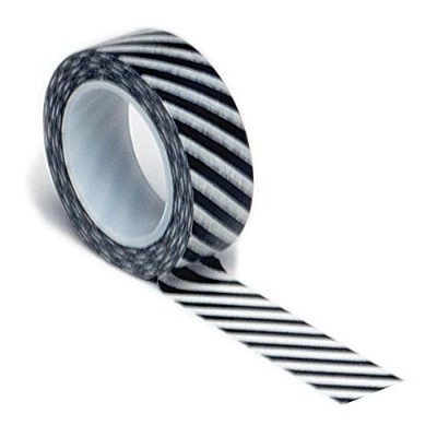 Trendy Tape Core Collection 15mmX10yd-Diagonal Stripe Black (並行輸入品)