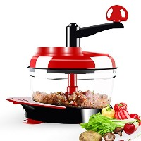Dongke手動Foodクラッシャー、Meat Grinder Baby Food Processor Chopper for野菜果物玉ねぎCelery hand-powered Mincer...