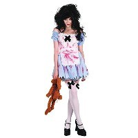 Bristol Novelty White/Red Zombie Girl. Adult Costumes - Women's - One Size.