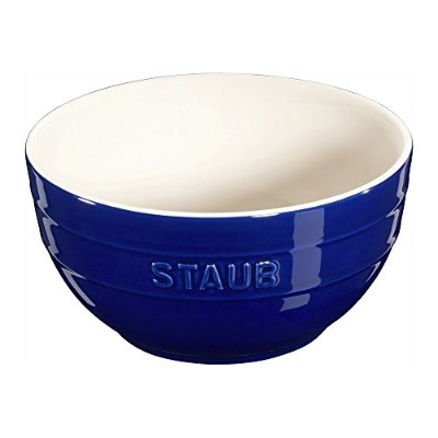 (Dark Blue) - Staub Ceramic 17cm Large Bowl - 1.2l (Dark Blue)