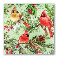 Michel Design Works napl293 20-count 3本用紙Luncheon Napkins、クリスマスパイン