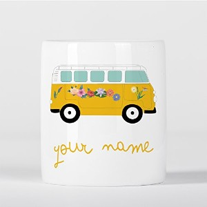Customized Hippie Camper Van Car Flowers Children Kids Personalised 貯金箱