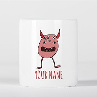 Customized Red Funny Alien Monster Children Kids Personalised 貯金箱