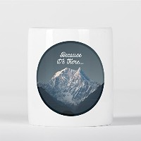 Because It's There Quote Mount Everest Climbing Himalayas Inspirational 貯金箱
