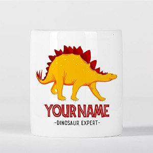 Customized Stegosaurus Dinosaur Expert Yellow Children Kids Personalised 貯金箱