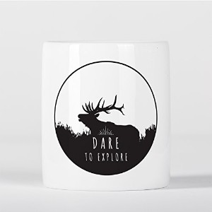 Dare to Explore Hipster Deer Antlers Travel Inspiration Wanderlust 貯金箱