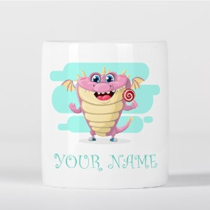 Customized Pink Monster Dragon Candy Children Kids Personalised 貯金箱