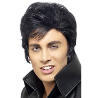 Smiffys Men's Black Elvis Wig - One Size