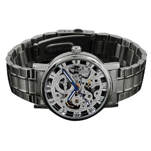 ローマNumberal Winner Men 'sステンレススチールMechanical Watch