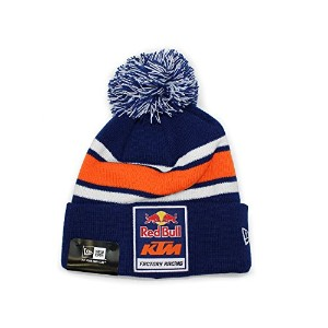 (ニューエラ) NEW ERA RED BULL KTM FACTORY RACING 【POM LOGO KNIT BEANIE/NAVY-ORG】 ニューエラ レッドブル KTM [並行輸入品]