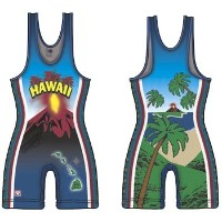 BruteハワイSublimated Singlet XS