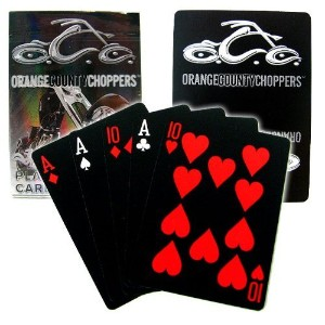 Orange County Choppers Black Deck Playing Cards、シングルデッキ
