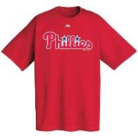 Philadelphia Phillies Red Wordmark Tシャツ レッド