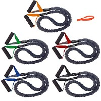fitcord 5パックVery light-very Heavy Covered Resistance Bands 4 ' Fitnessチューブ。American Made。。
