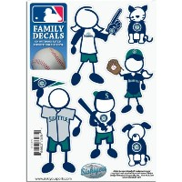 MLB Seattle Mariners Smallファミリデカールセット