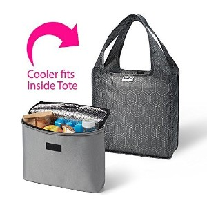 RumeバッグMiniトートwith 2 cool Insulated LunchバッグCooler Set of 2  One Size ブラック