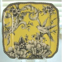 222 Fifth Adelaide Yellow Appetizer / Dessert Plates, Set of 4 by 222 Fifth