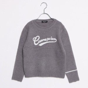 【SALE 50%OFF】コムサイズム COMME CA ISM ロゴ刺繍ニット (グレー)