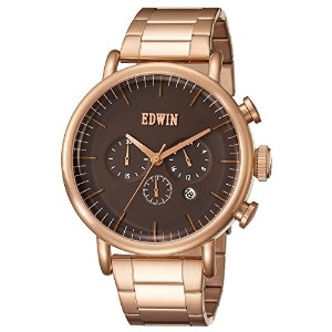 エドウイン 腕時計 CLASSIC ELEMENT Stainless Steel Chronograph Watch メンズ EW1G013M0064 Rose Gold