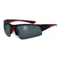 BlueWater Polarized Bay Breeze Demi Smoke Lenses with Rubber Ear Pads (Tortoise, Small) by...