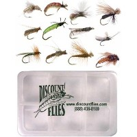 Caddis Flyコレクション – 12 Trout Flies +フライボックス