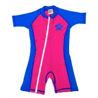 infant size M sun UV Protection One-Piece Pink/Blue Swimsuit SPF+50 Age 12-24 Month by Swimfree