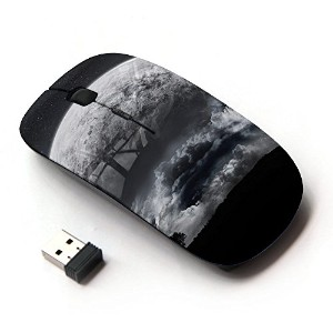 KOOLmouse [ ワイヤレスマウス 2.4Ghz 無線光学式マウス ] [ Alien Moon Close View Tree Eart Apocalypse Planet ]