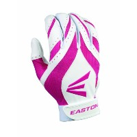 Easton Synergy 2 Fastpitchバッティング手袋 – ホワイト/ピンク X-Large