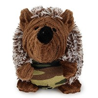FORE Dog Squeak Plush Toy Chew Toy For Dog (S, Brown & Camo)