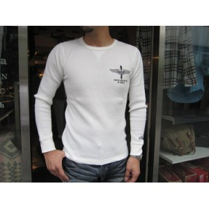 ACOUSTIC(アコースティック)UNDER FORCE DEPT THERMAL LONG-TEE (丈夫で柔らかいサーマル ロングTシャツ)【2色展開(OFF WHITE,BLACK)】...