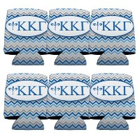 Kappa Kappa Gamma Can Cooler Set of 6 – Chevronストライプデザイン