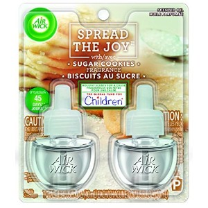【Air Wick/エアーウィック】 プラグインオイル詰替えリフィル(2個入り) シュガークッキー Air Wick Scented Oil Twin Refill Spread The Joy...