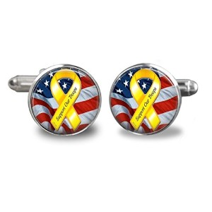 Support Our Troops Cufflinks–USAジュエリー–Militaryギフト–Gifts for Men
