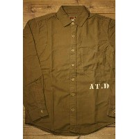 """AT-DIRTY""""G.R L/S SHIRT""""KAHAKI【AT-DIRTY】(アットダーティー)正規取扱店(Official Dealer)Cannon Ball(キャノンボール)【送料無料..."""