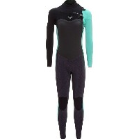 ロキシー レディース サーフィン スポーツ 3/2 Performance Chest Zip HYD Wetsuit - Women's Ash/Pistaccio