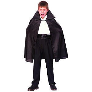 Bristol Novelty Black Dracula Cape. Medium. Childrens Costumes - Boy's - Medium