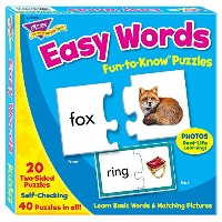Trend Enterprises Easy Words Fun to Know Puzzles T36007 ファン トゥ ノウパズル 簡単なことば