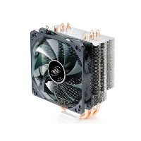 DeepCool CPU Cooler 4 Heatpipes 120mm PWM Fan with Blue LED Universal Socket Solution GAMMAXX 400 ...