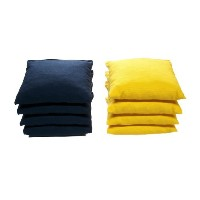 Weather Resistant Cornhole Bags ( 4Navyブルーand 4イエロー) by Cornhole Galaxy